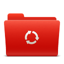 red, sync, new, folder, soda icon