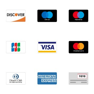 Credit Cards icon sets preview