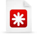 paper, file, document, red icon