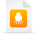file, document, orange, paper icon