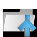 arrow, up, folder icon