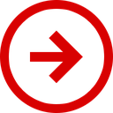 trend, direction, negative, stagnant, arrow icon