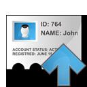 up, profile, arrow icon