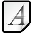 application, font, afm icon