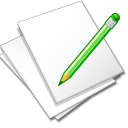 Documents, Edit, White icon