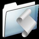 Folder, Graphite, Script, Smooth icon