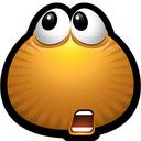 emot, emot, shocked, doubt, monsters, brown, monster icon