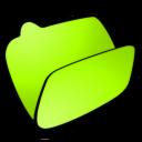 Folder, Lime, Open icon
