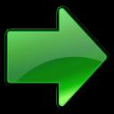 yes, next, green, ok, correct, right, forward, arrow icon