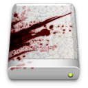 blood,splattered,drive icon