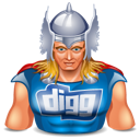 super hero, thor, digg icon