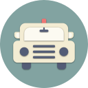travel, car, transport, police, road, drive, vehicle icon