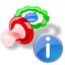 pacifier,info,information icon