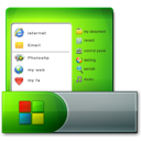 taskbar, start, menu icon