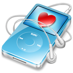 favorite, ipod, blue, video icon