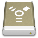Lightbrown External Drive FireWire icon