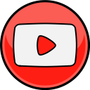 youtube, media, social icon