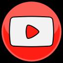 youtube, media, social icon