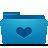 favorite, blue, folder icon