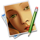 face, picture, pen, image icon