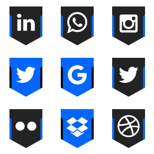 Social Media Logos icon sets preview