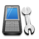 Call, Phone, Settings icon