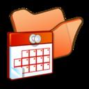Folder orange scheduled tasks icon