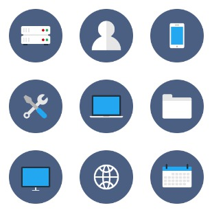 Flat Business icon sets preview
