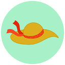 travel, summer, hat, wind, vacation, beach icon