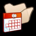 folder,beige,scheduled icon