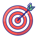strategy, purpose, target, arrow, bullseye, aim icon