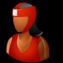 Boxer, Dark, Female icon