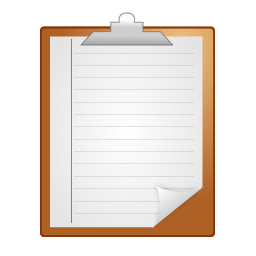 note, clipboard icon