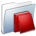 library, stripped, folder, graphite icon