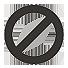 stop, forbidden icon