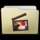 beige folder movies alt icon