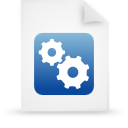 blue, file, paper, document icon