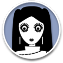 human, dark, user, account, profile, girl, child, person, people, kid icon
