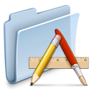 application, folder, badged icon