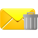 trash, email icon