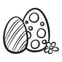 hen, chicken, spring, egg, decorated, fragile, easter icon