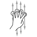scroll, finger, four, gestureworks icon