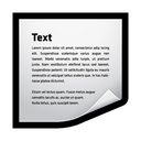 word, text, clip, clipping icon