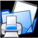 print, folder, printer icon