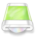 drive,green,disk icon