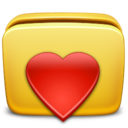 folder,heart icon