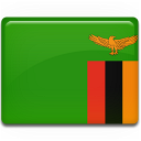 zambia, flag icon