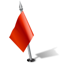 flag2leftred, flag, pinpoint icon