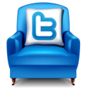 twitter, furniture, chair icon