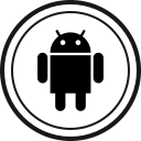 media, online, social, android icon